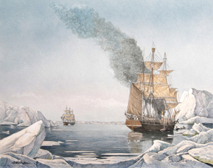 Artic Whaler Cutting In, Charles W. Morgan