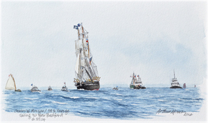 Charles W. Morgan, Sailing to New Bedford