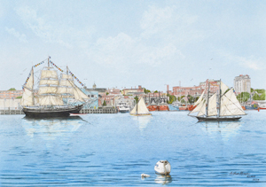 Charles W. Morgan, New Bedford Harbor